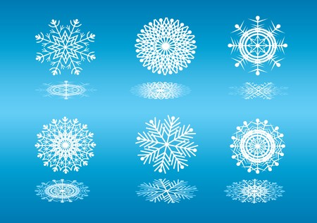 Background a snowflake. Stock Photo - 7085087