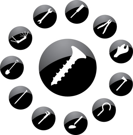 Set icons. Tools.  photo