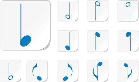 semiquaver: Icon. Music notes. Similar images can be found in my gallery.  Stock Photo