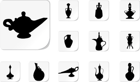 Set from a set of jugs and vases Stock Photo - 7295607