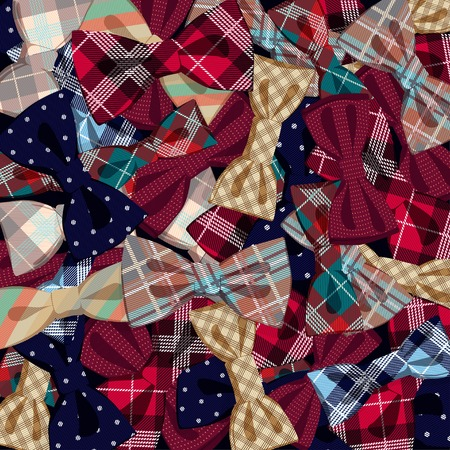 Vector Illustration of  Pattern of vector bow-ties Vector