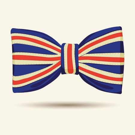 Vector Illustration of  Britain flag bow-tie Vector