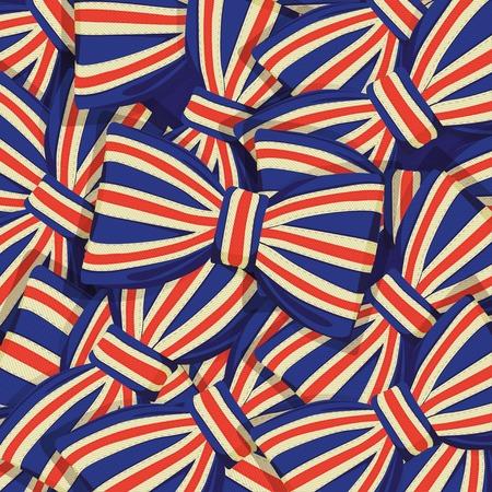 bandera de gran breta�a: Ilustraci�n del vector del modelo de la bandera de Gran Breta�a de pajarita
