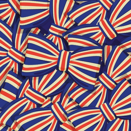 Vector Illustration of  Pattern of Britain flag bow-tie Vector