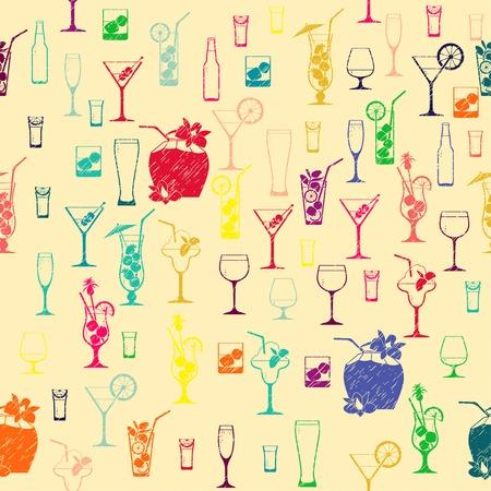 Vector Illustration of  Cocktail pattern Vector