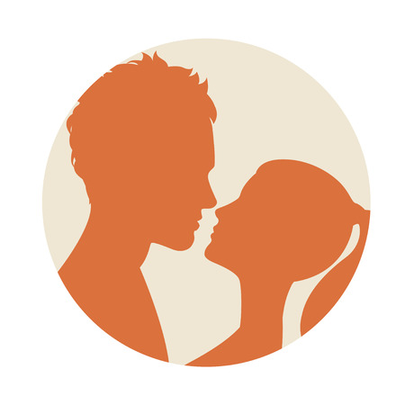 romantic sex: Vector illustration Flat style couple kissing