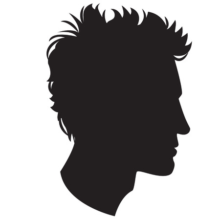 Vector Illustration Icon of  Man head silhouette