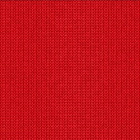 Vector Illustration Knitted red background Illustration