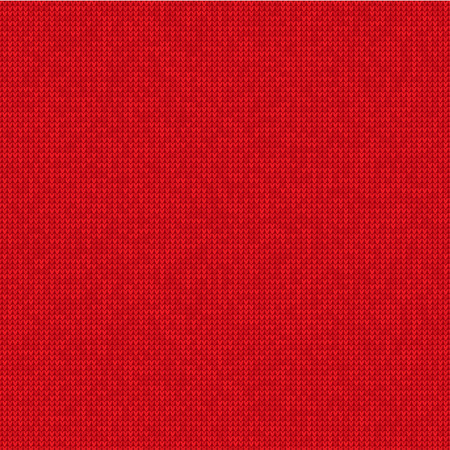 Vector Illustration Knitted red background Stock Illustratie