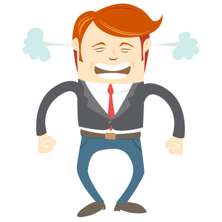 Vector Illustration of  Angry office man Vector