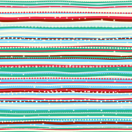 Vector Illustration of Vintage Christmas pattern