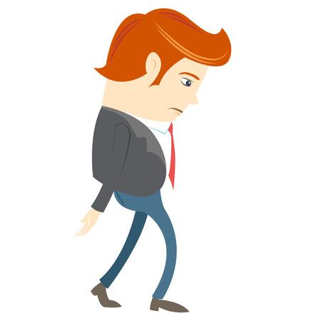 Vector illustratie van Sad Office man