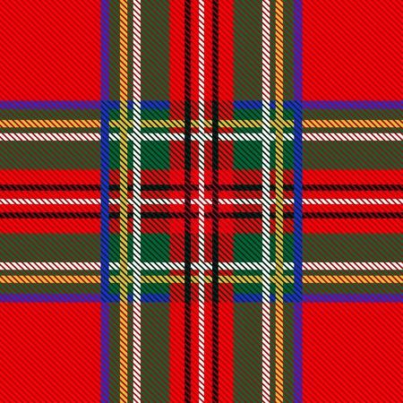 Vector Illustration of Seamless tartan pattern for your design