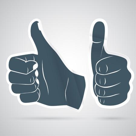Vector Illustration of  Thumbs up sticker Illustration