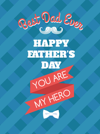 typographical: Vector illustration Festive typographical  retro style greeting card for fathers day