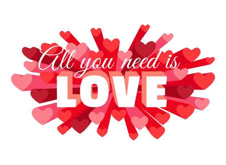 romance: Vector illustration Romance heart spray LOVE greeting card or invitation Illustration