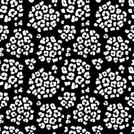 Illustrazione vettoriale leopardo stampa sfondo seamless. Bianco e nero