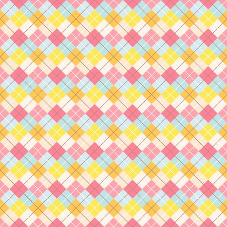 Colorful seamless tartan pattern . Flat vector illustration