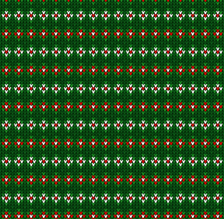 Winter Christmas x-mas knit seamless background. Knitted pattern. Winter knitting. Flat style design.