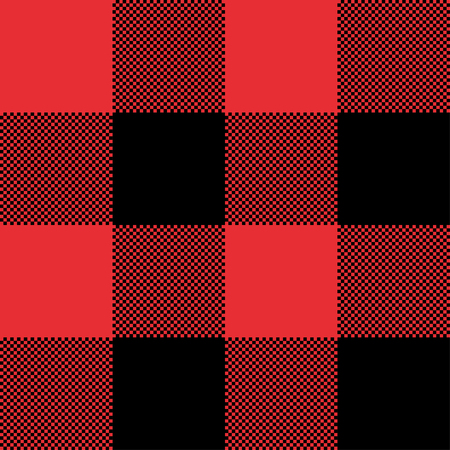 Red and Black Tartan plaid seamless abstract checkered pattern background for Christmas , Wedding, Birthday design cards Flat style vector illustration.