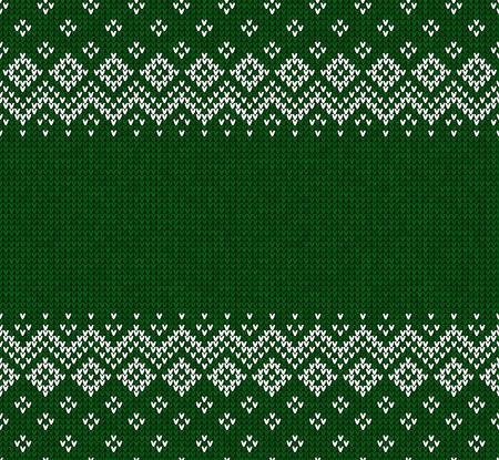 シームレスな抽象的な背景フレーム、ボーダー ニット冬クリスマス x マス