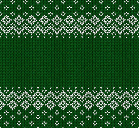Winter Christmas x-mas knitted seamless abstract background frame and border