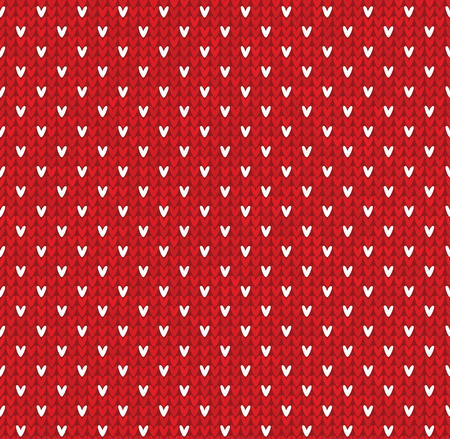 Knitted Pattern With Dots Snowflakes Royalty Free Cliparts Vectors