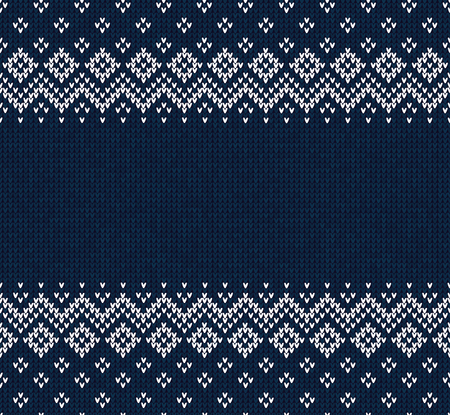 Winter Christmas knitted abstract pattern. Vettoriali