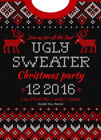 겨울 크리스마스 니트 추상적 인 패턴 스웨터 디자인.