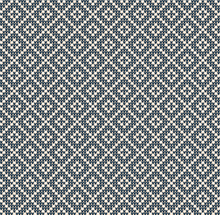 Winter Christmas x-mas knitted seamless abstract background pattern. Knitted Scandinavian pattern with nordic ornaments. Winter knitting. Scandinavian flat style design textile, wallpaper, phone cases