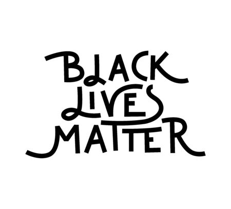 Black Lives Matter vector lettering design element Archivio Fotografico - 149934939
