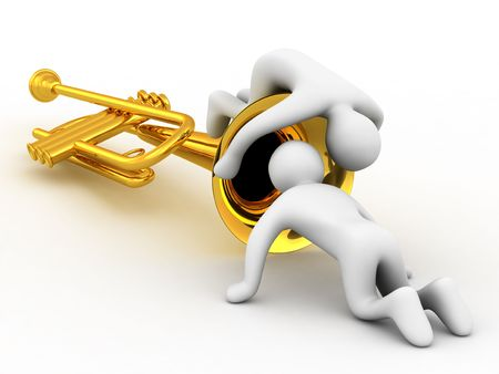 lyrical: music instrument and people on white background