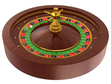 roulette player: roulette, casino on white background Stock Photo