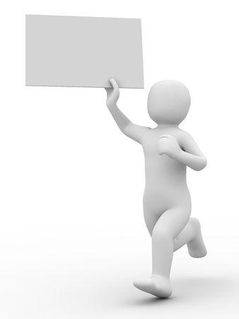 3d person: 3 � persona y la forma en el fondo blanco