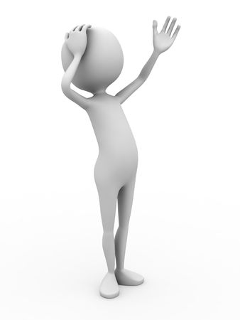 3d personage on white background. Stock Photo - 4942011