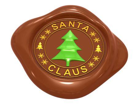 Of sealing wax seal and symbols Santa Claus  photo