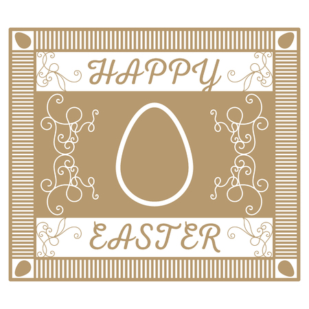 gold egg: Retro or vintage template. A retro a gold card with jewelry for Easter. Easter gold egg.