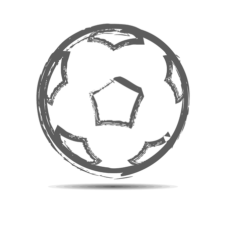 soccerball: The soccerball drawn with a brush. Illustration