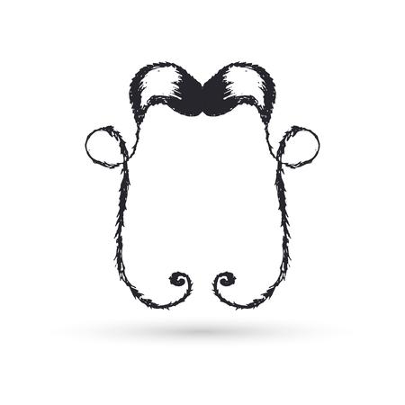 moustaches: Black moustaches, for ornament. illustration