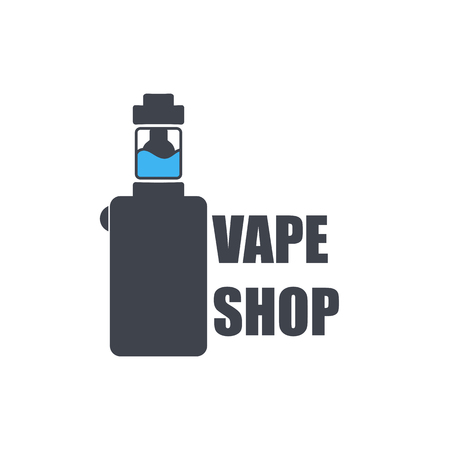 e cigarette: Icon of an electronic cigarette with liquid inside.