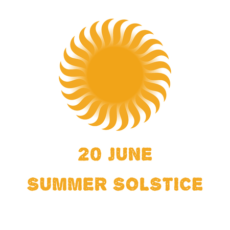 solstice: Emblem or poster of the sun for a holiday of day of a solstice Illustration