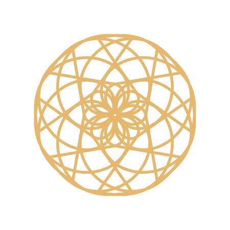 Gold mandala or geometrical element for decoration Illustration
