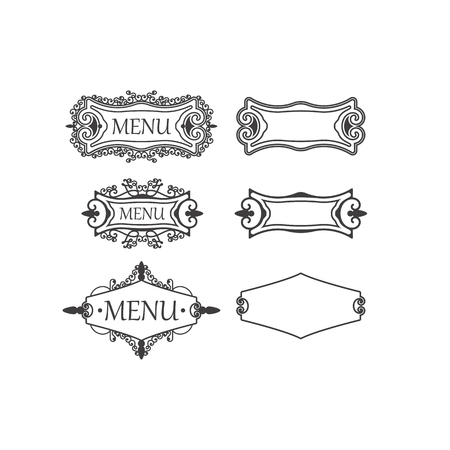 Set Of Three Vintage Frames With Decorative And Floral Elements ...