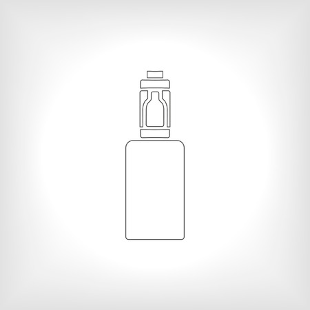 vaporized: Icon or emblem of the electronic cigarette, vector illustration