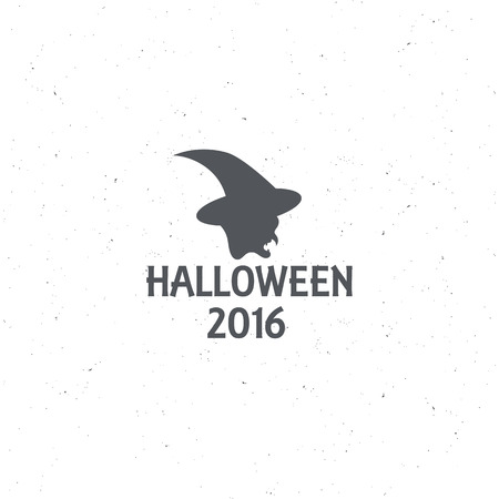 witchery: The emblem or poster for Halloween 2016 with the head witch, for decorating party. Vector illustrations