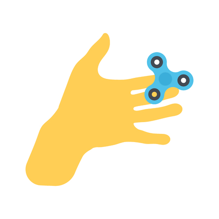 Vector isolated Hand, palm with spinner
