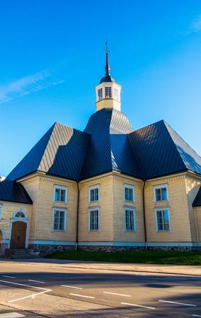 Church of Maiden Maria in Lappeenranta, sunny summer day. Banco de Imagens