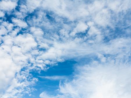 Soft white clouds against blue sky Banco de Imagens