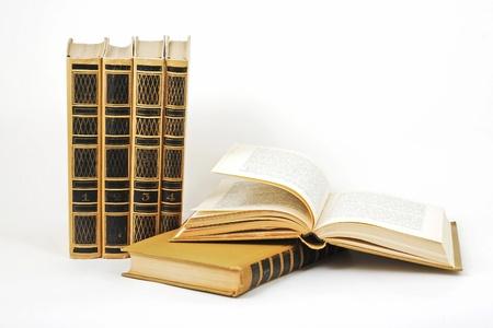 six books on white Stock Photo - 18756007