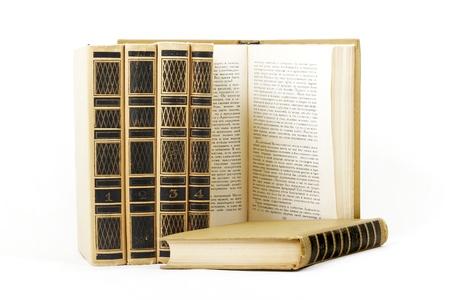 six books on white Stock Photo - 18756010